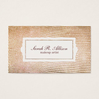 Gold Snakeskin Makeup Artist Beauty Business Card