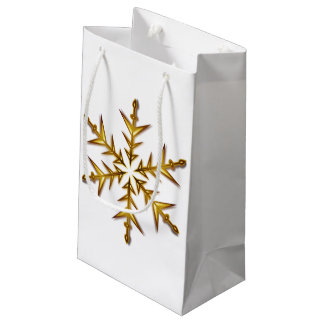 gold snowflake bag