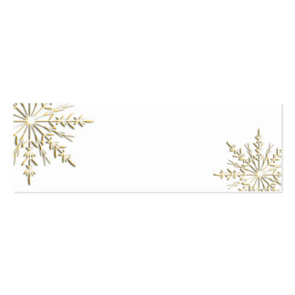 Gold Snowflake Gift Tags Business Card
