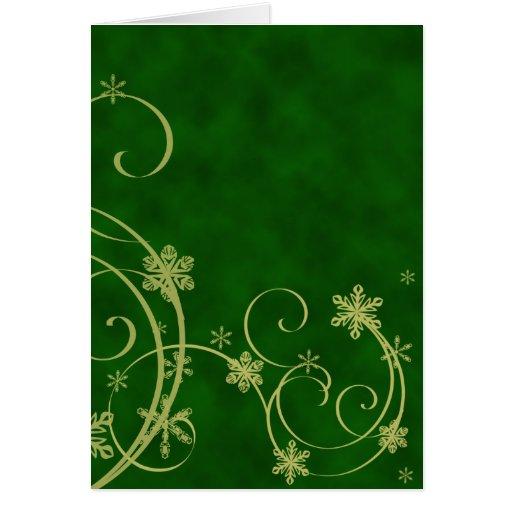 Gold Snowflakes Christmas Card