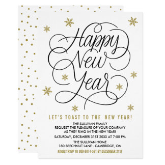 New Years Eve Invitations & Announcements | Zazzle.co.uk