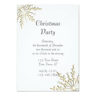 White Christmas Invitations
