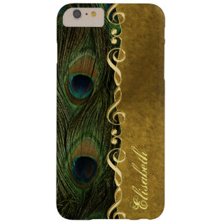 Gold Sol Key Peacock iPhone 6 Plus Monogram Case