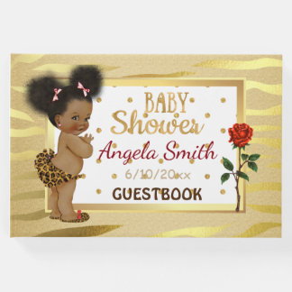 Gold Sparkle Baby Shower Guestbook