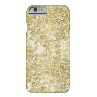 Gold Sparkle Bokeh Dots Barely There iPhone 6 Case