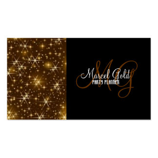 Gold sparkle events and party planner Double-Sided standard business cards (Pack of 100)