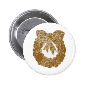 Gold Sparkle Wreath by Navin 6 Cm Round Badge