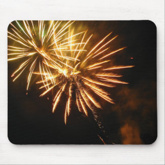 Gold Sparkles Gleaming Mouse Mat