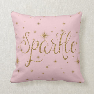 Gold Sparkles Throw Pillow