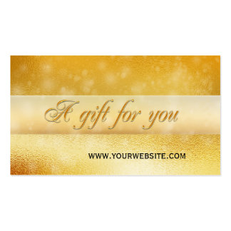 Gold Sparkling Bokeh Gift Certificate Template Pack Of Standard Business Cards