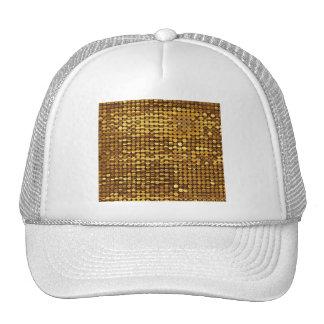 Gold Sparkling Sequin Look Cap