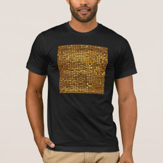 Gold Sparkling Sequin Look T-Shirt
