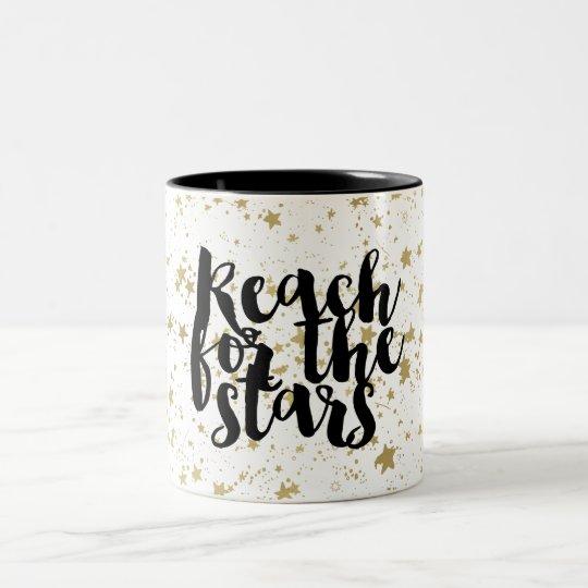 Gold Sparkling Stars Two-Tone Coffee Mug