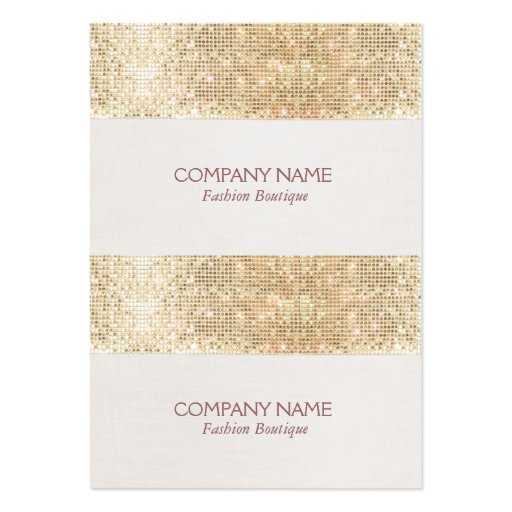 Gold Sparkly Sequin Mini Price, Gift or Hang Tags Business Card Templates
