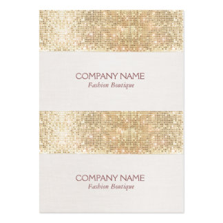 Gold Sparkly Sequin Mini Price, Gift or Hang Tags Pack Of Chubby Business Cards