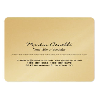 Gold Special Unique Modern Professional Pack Of Chubby Business Cards