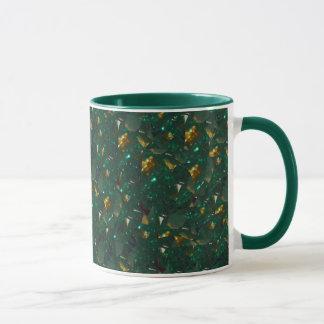 Gold Speckled Green Mug