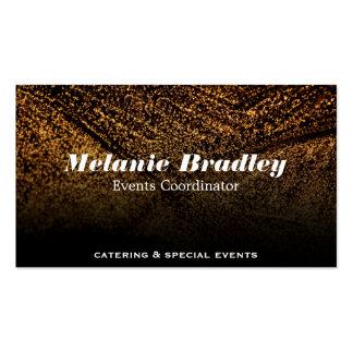 Gold Speckled Pack Of Standard Business Cards
