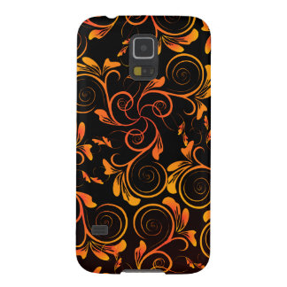 Gold Spiral Floral Galaxy S5 Cover