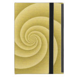 Gold Spiral in brushed metal texture iPad Mini Case