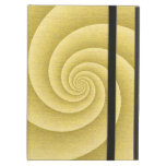Gold Spiral in brushed metal texture iPad Case