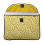 Gold Spiral in brushed metal texture Sleeve For MacBooks