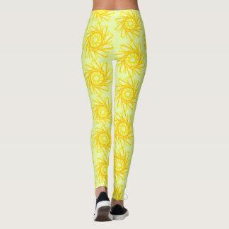 Gold spiral leggings