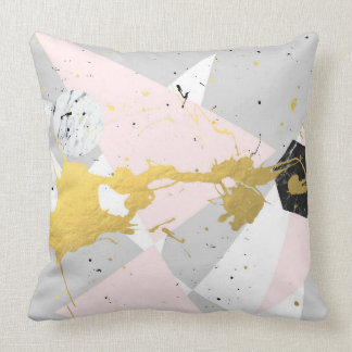 Gold Splatter Cushion