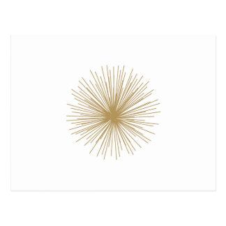 Gold Sputnik Starburst Postcard