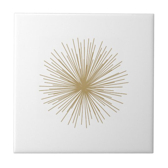 Gold Sputnik Starburst Tile