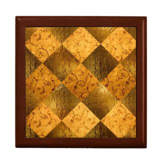 "Gold  Square w/6"" Tile Gift Box, Golden Oak Gift Box"
