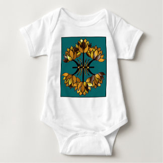 Gold Stained Glass Baby Bodysuit