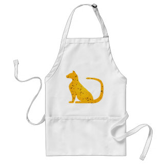 Gold Stained Glass Cat CrystalKatz Key Aprons