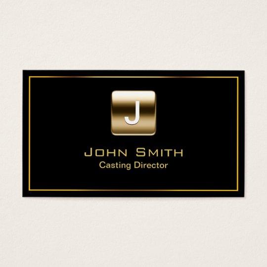 Gold Stamp Casting Director Dark Business Card