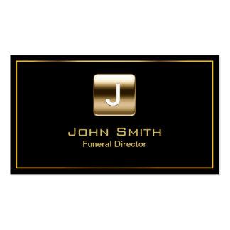 Gold Stamp Funeral Dark Business Card