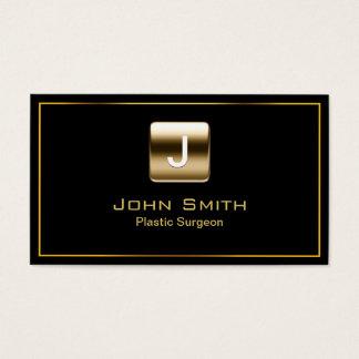 Gold Stamp Plastic Surgeon Dark Business Card