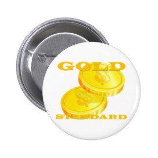 Gold Standard 6 Cm Round Badge