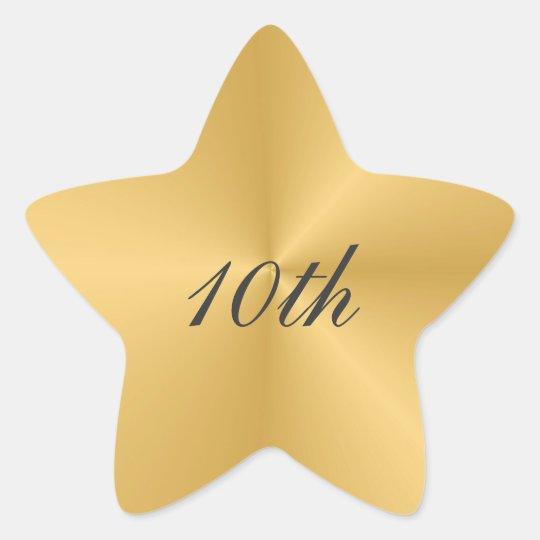 Gold Star 10th Anniversary Sticker