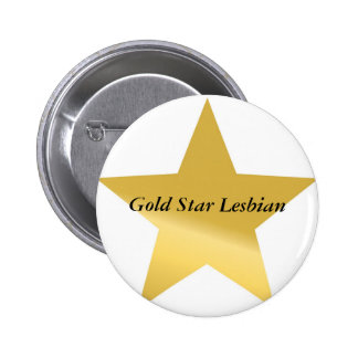 gold-star-2, Gold Star Lesbian 6 Cm Round Badge
