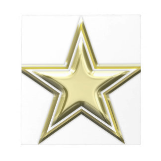 Gold Star 2 Layer Golden Stars Notepad