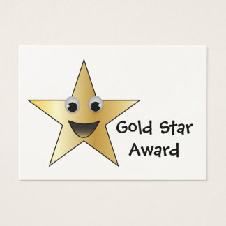 Gold Star Achievement Award for Children Business Card