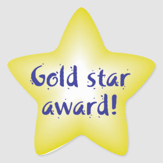 Gold star award stickers