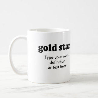 GOLD STAR BASIC WHITE MUG