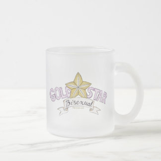 Gold Star Bisexual Frosted Mug