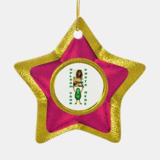 gold star ceramic star decoration