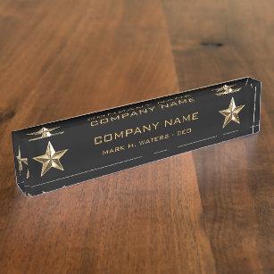021a02dc0e1f Gold Star Company Executive Name Plate