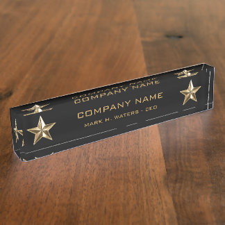 Gold Star Company Executive Name Plate