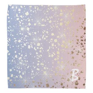 Gold Star Foil Sparkle Rose Quartz Serenity Blue Kerchiefs