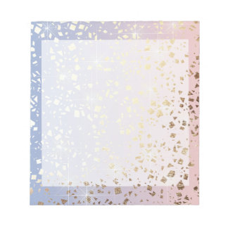 Gold Star Foil Sparkle Rose Quartz Serenity Blue Notepad