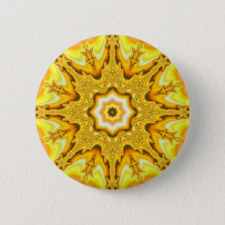 Gold Star Fractal Button